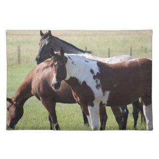 Pinte el caballo y a los amigos manteles individuales