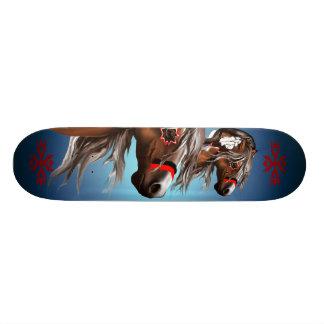 Pinte el caballo y el monopatín de las plumas patines personalizados