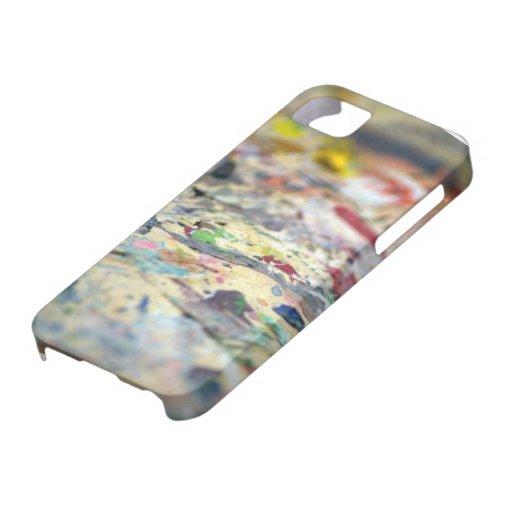 Pinte el caso del ambiente de Barely There del iPh iPhone 5 Case-Mate Cárcasas