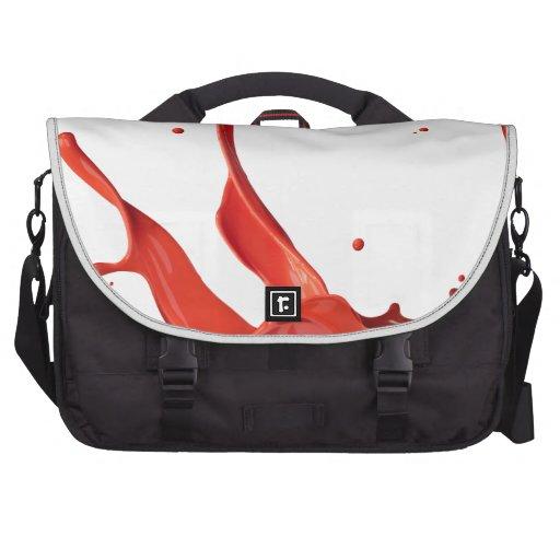 Pinte el chapoteo bolsas de ordenador