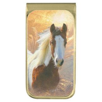 Pinte el clip plateado oro del dinero del caballo clip para billetes dorado