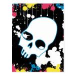 Pinte el cráneo de la salpicadura postal