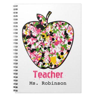 Pinte el cuaderno del profesor de Apple de la salp