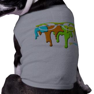 pinte el dogwear de RAY BAN del goteo Playera Sin Mangas Para Perro