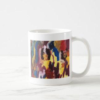 Pinte el extracto de la paleta tazas de café