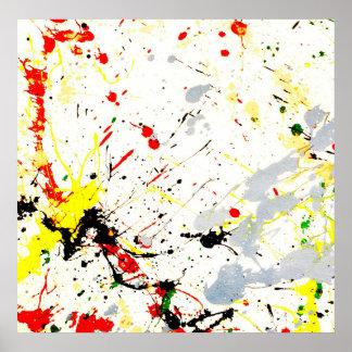 Pinte el fondo de la salpicadura 1 posters