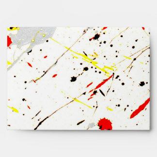 Pinte el fondo de la salpicadura (1) sobres