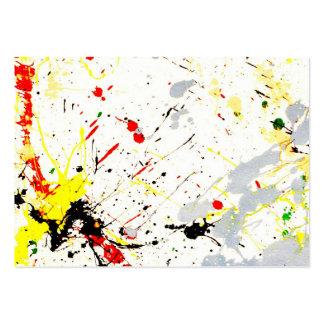 Pinte el fondo de la salpicadura (1) tarjetas de visita grandes