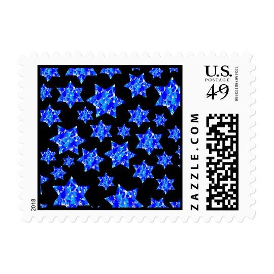 Pinte el franqueo judío de las estrellas de la timbre postal