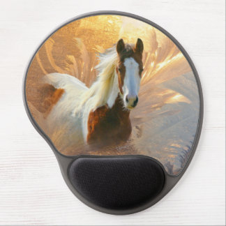 Pinte el gel Mousepads del oro del caballo Alfombrilla Con Gel
