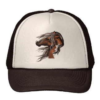Pinte el gorra de la cara del caballo