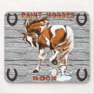 Pinte el mousepad de la roca de los caballos