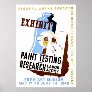 Pinte el objeto expuesto de la prueba WPA 1940 Impresiones