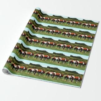 Pinte el papel de embalaje de los caballos papel de regalo