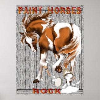 Pinte el poster de la roca de los caballos