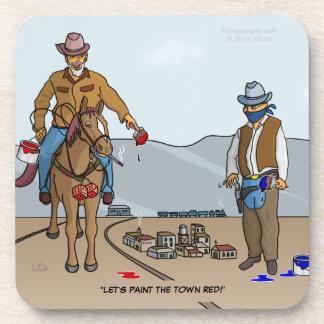 Pinte el práctico de costa de los vaqueros de la c posavasos de bebidas