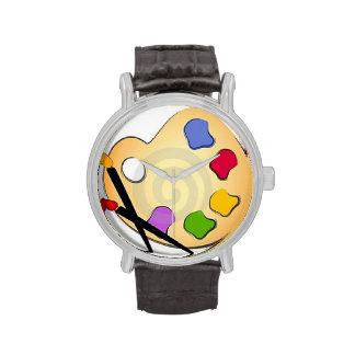 pinte el reloj