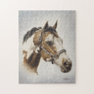 Pinte el rompecabezas del caballo