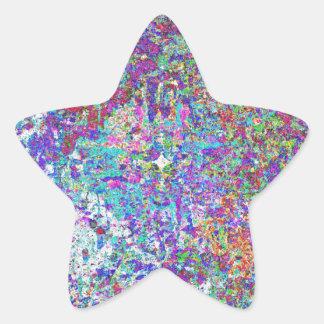Pinte el salpicón pegatina en forma de estrella