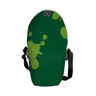 Pinte el verde de la salpicadura bolsa de mensajeria