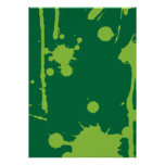 Pinte el verde de la salpicadura impresiones