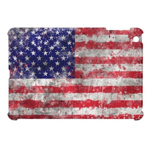 Pinte la bandera americana de la salpicadura
