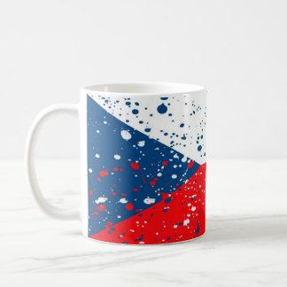 Pinte la bandera de la República Checa Taza Clásica