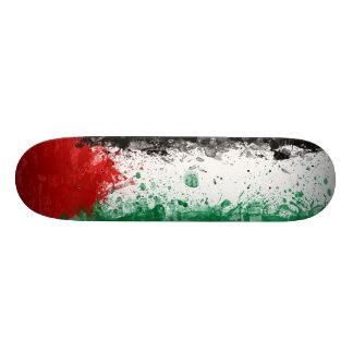 Pinte la bandera de Palestina del Grunge del arte Tabla De Skate