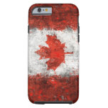 Pinte la bandera del canadiense de la salpicadura funda de iPhone 6 tough