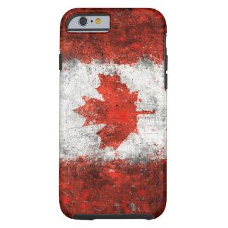 Pinte la bandera del canadiense de la salpicadura funda de iPhone 6 tough