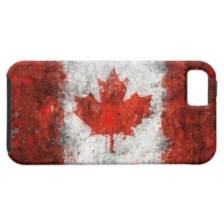 Pinte la bandera del canadiense de la salpicadura iPhone 5 Case-Mate coberturas