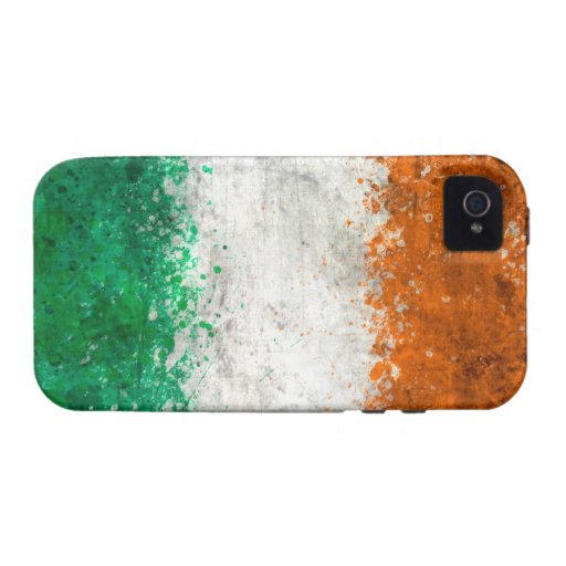 Pinte la bandera del irlandés de la salpicadura iPhone 4 carcasa
