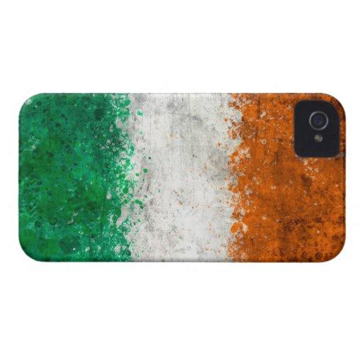 Pinte la bandera del irlandés de la salpicadura iPhone 4 cárcasa
