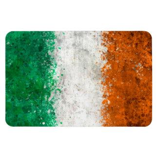 Pinte la bandera del irlandés de la salpicadura imán flexible
