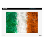 Pinte la bandera del irlandés de la salpicadura portátil skin