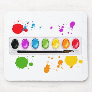 pinte la caja con las salpicaduras tapetes de ratón