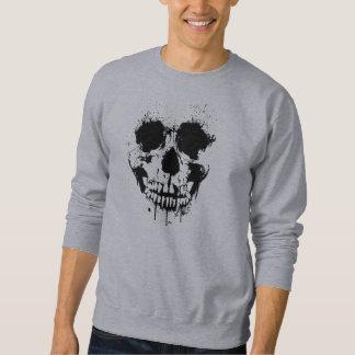 Pinte la camiseta del cráneo del goteo