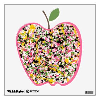 Pinte la etiqueta de la pared de Apple de la salpi Vinilo