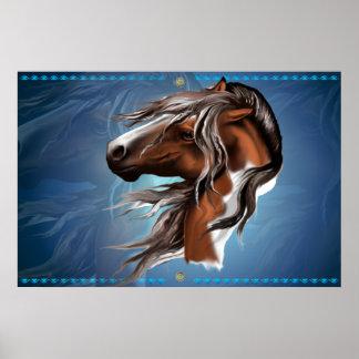 Pinte la impresión de la cara del caballo impresiones