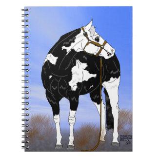 Pinte la impresión del caballo libros de apuntes