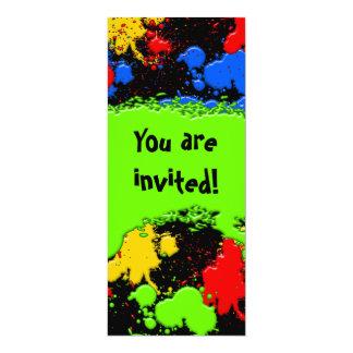 Pinte la invitación de la bola invitación 10,1 x 23,5 cm