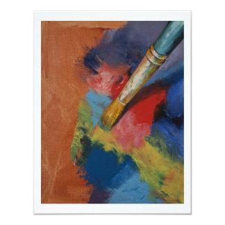 """Pinte la paleta invitación 4.25"""" x 5.5"""""""