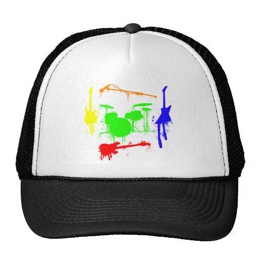 Pinte la pintada de la banda de los instrumentos m gorras de camionero