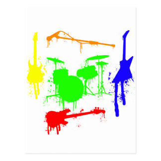 Pinte la pintada de la banda de los instrumentos m postales