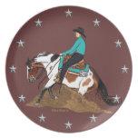 Pinte la placa del caballo que contiene plato