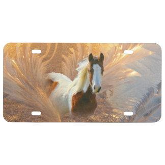 Pinte la placa del oro del caballo placa de matrícula