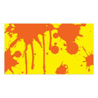 Pinte la salpicadura anaranjada tarjetas personales
