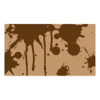 Pinte la salpicadura Brown Plantillas De Tarjetas Personales