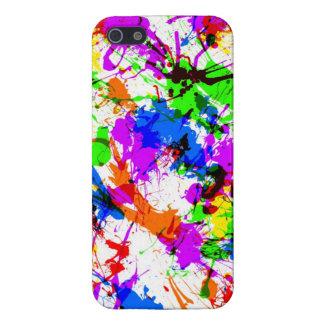 Pinte la salpicadura colorida iPhone 5 fundas