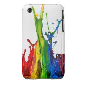 Pinte la salpicadura iPhone 3 Case-Mate cárcasa